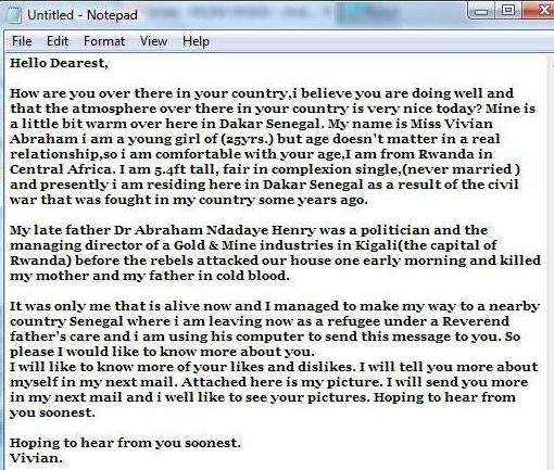 Nigeria scam_email