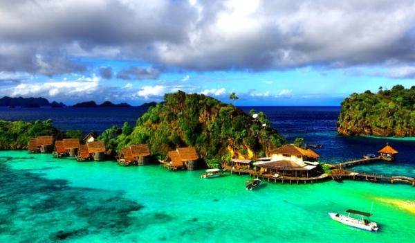 Misool Eco Resort, salah satu titik wisata Raja Ampat.