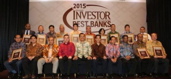 Para pemenang anugrah bank terbaik Indonesia 2015. (Beritasatu.com)