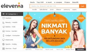 Elevenia, salah satu toko online terpopuler di Indonesia.