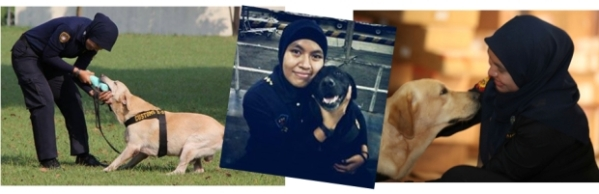 It's always a good time. Diana bersama K-9 Bea Cukai.